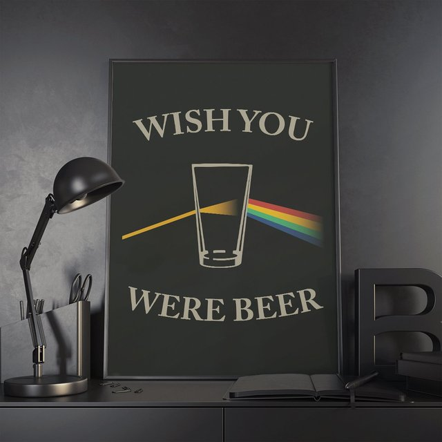 Wish You Were Beer Print