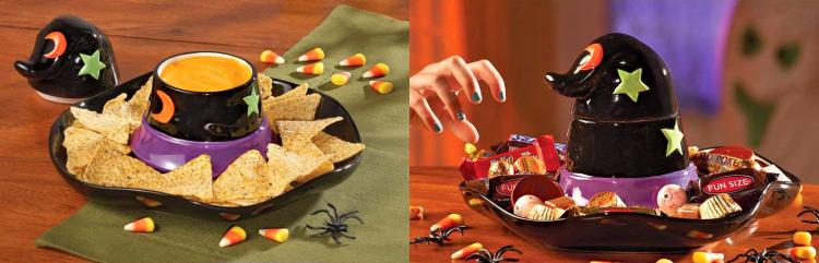 Witch Hat Halloween Chip and Dip Serving Tray - Witch's hat chip/dip tray