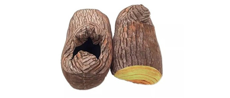 Wood Stump Slippers - Log slippers