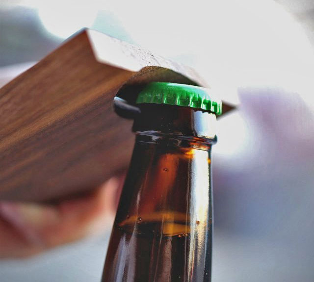 Wooden Bottle Opener Coasters