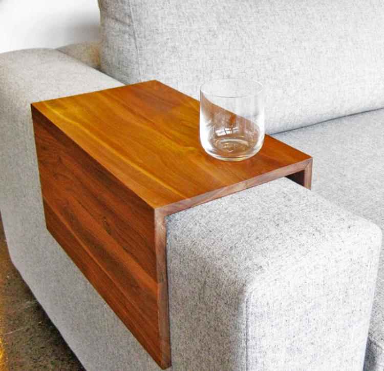 Wooden Couch Arm Table