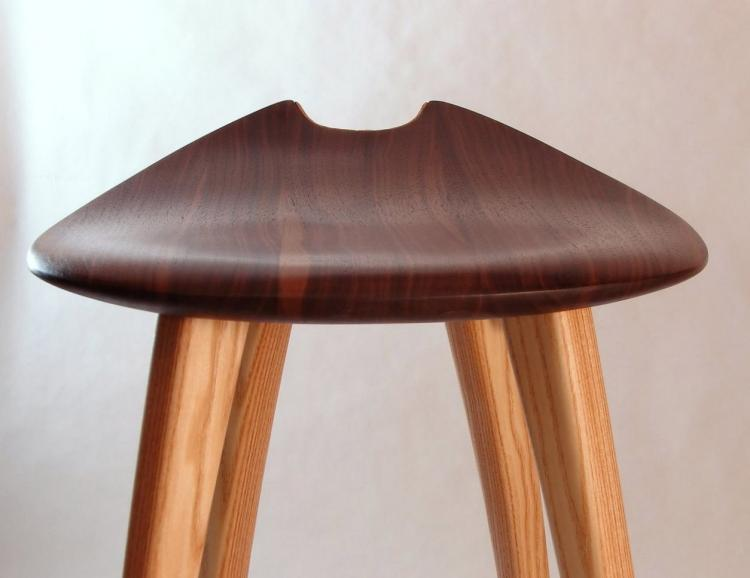 Enjoyable This Elegant Wooden Stool Has An Integrated Guitar Stand Ocoug Best Dining Table And Chair Ideas Images Ocougorg