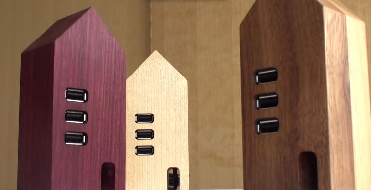 Wooden House USB Hub
