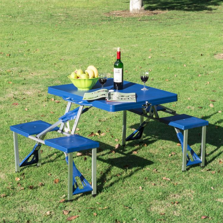 Super Portable Picnic Table Folds Down To a Briefcase For Easy Transport