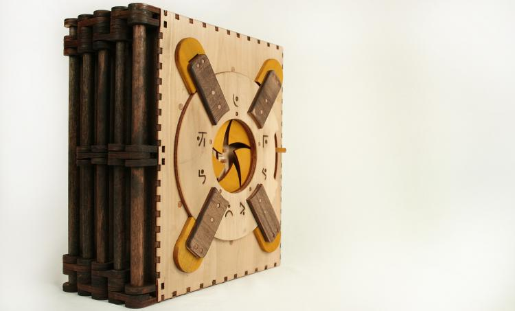 Codex Silenda Wooden Puzzle Book - Puzzle Book Makes You Solve Puzzle Before Turning Page
