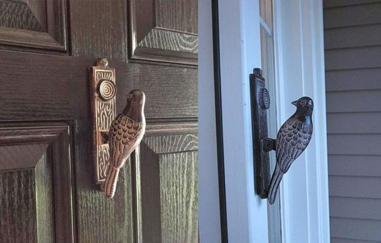 Brass Woodpecker Doorknocker