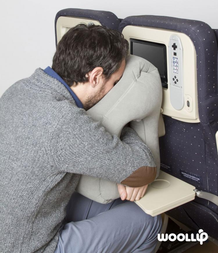 Woollip An Inflatable Travel Pillow For Sleeping On Planes