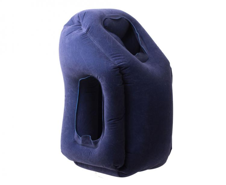 Unique Travel Pillow - Inflatable travel pillow - Pillow lean against pullout table to sleep on plane