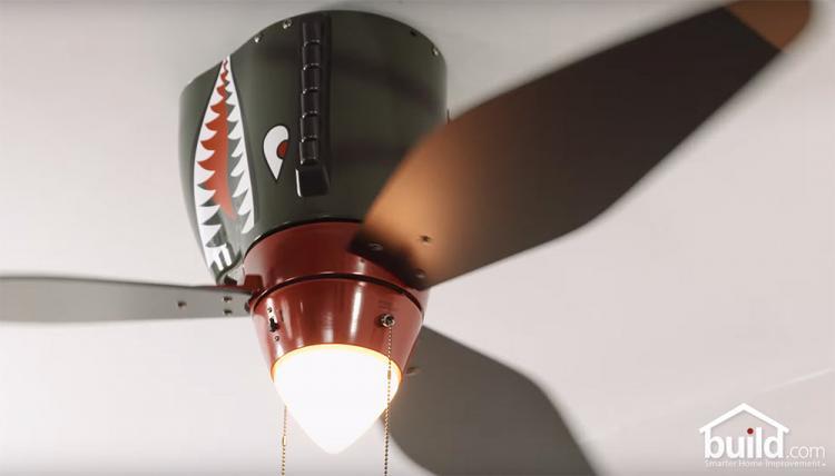 World War Ii Tiger Shark Plane Ceiling Fan