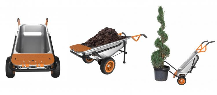 WORX Aerocart 8-in-1 Multi-Function Wheelbarrow Yard Cart - multi-tool leverage cart lifts heavy objects