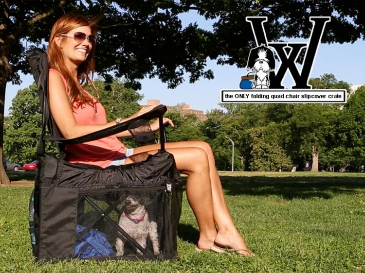 Wrapsit Converts Your Lawn Chair Into A Pet Crate - lawn-chair pet crate