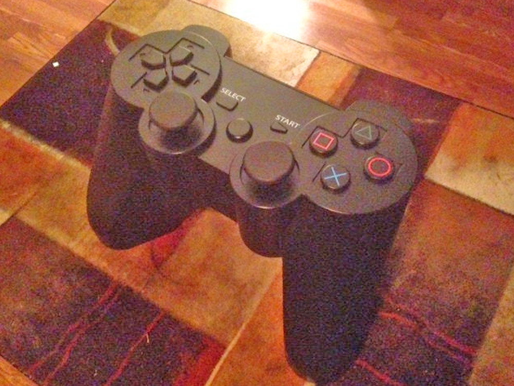 Giant Playstation Controller Replica Coffee Table