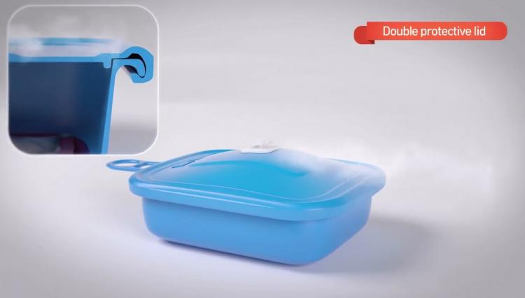 Yabul Flameless Silicone Cooker - Portable heat pack cooker lets you cook hot meal anywhere