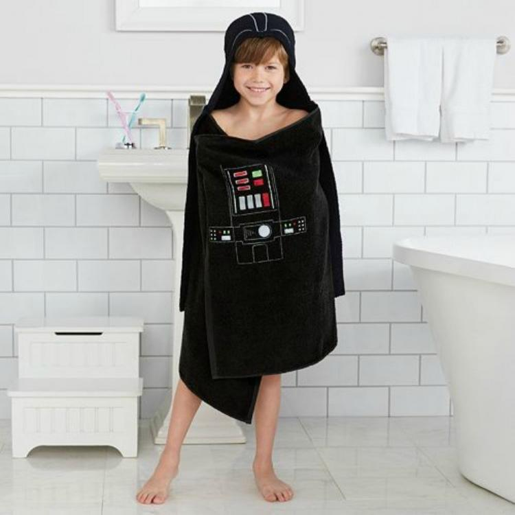 Star Wars Darth Vader Bath Towel Wrap Turns Your Kid Into Darth Vader After Bath-time