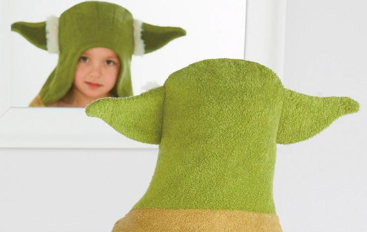 Star Wars Yoda Bath Towel Wrap Turns Your Kid Into Yoda After Bath-time