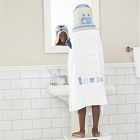 Star Wars R2-D2 Bath Towel Wrap Turns Your Kid Into R2-D2 After Bath-time