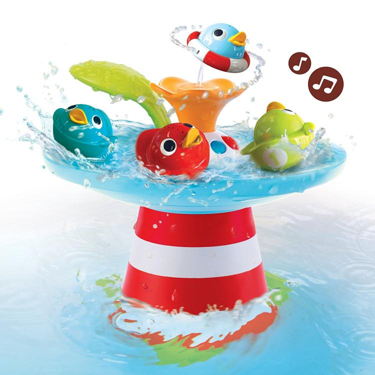 Yookidoo Baby Bath Toys Makes Bath-Time Fun - Musical Duck Race Baby Bath Toy