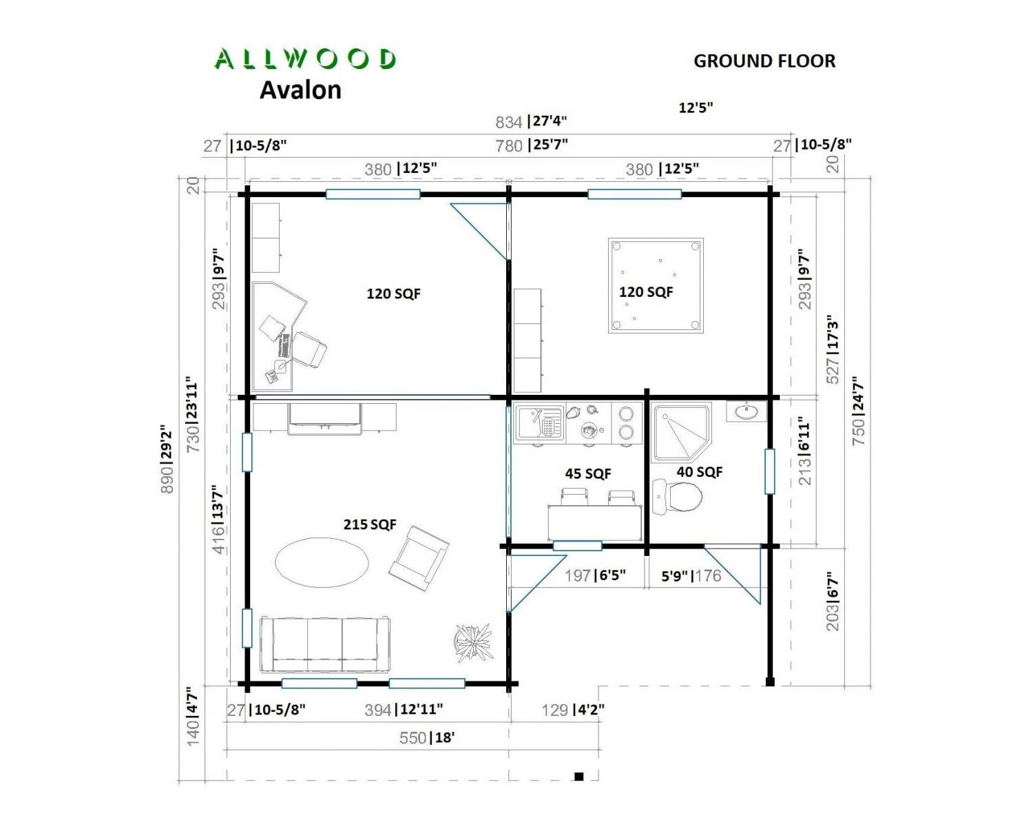Allwood DIY Cabin Kit - 5-room cabin kit on Amazon