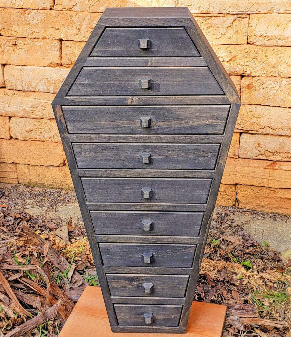 Coffin Apothecary Cabinet