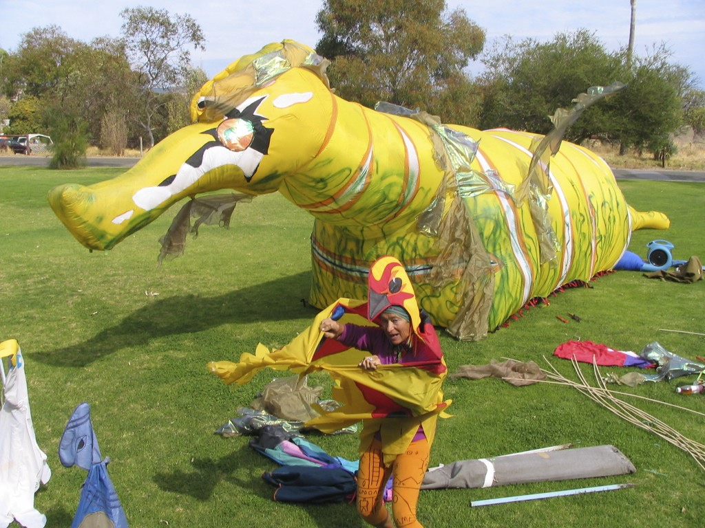 Giant inflatable sea dragon - Evelyn Roth