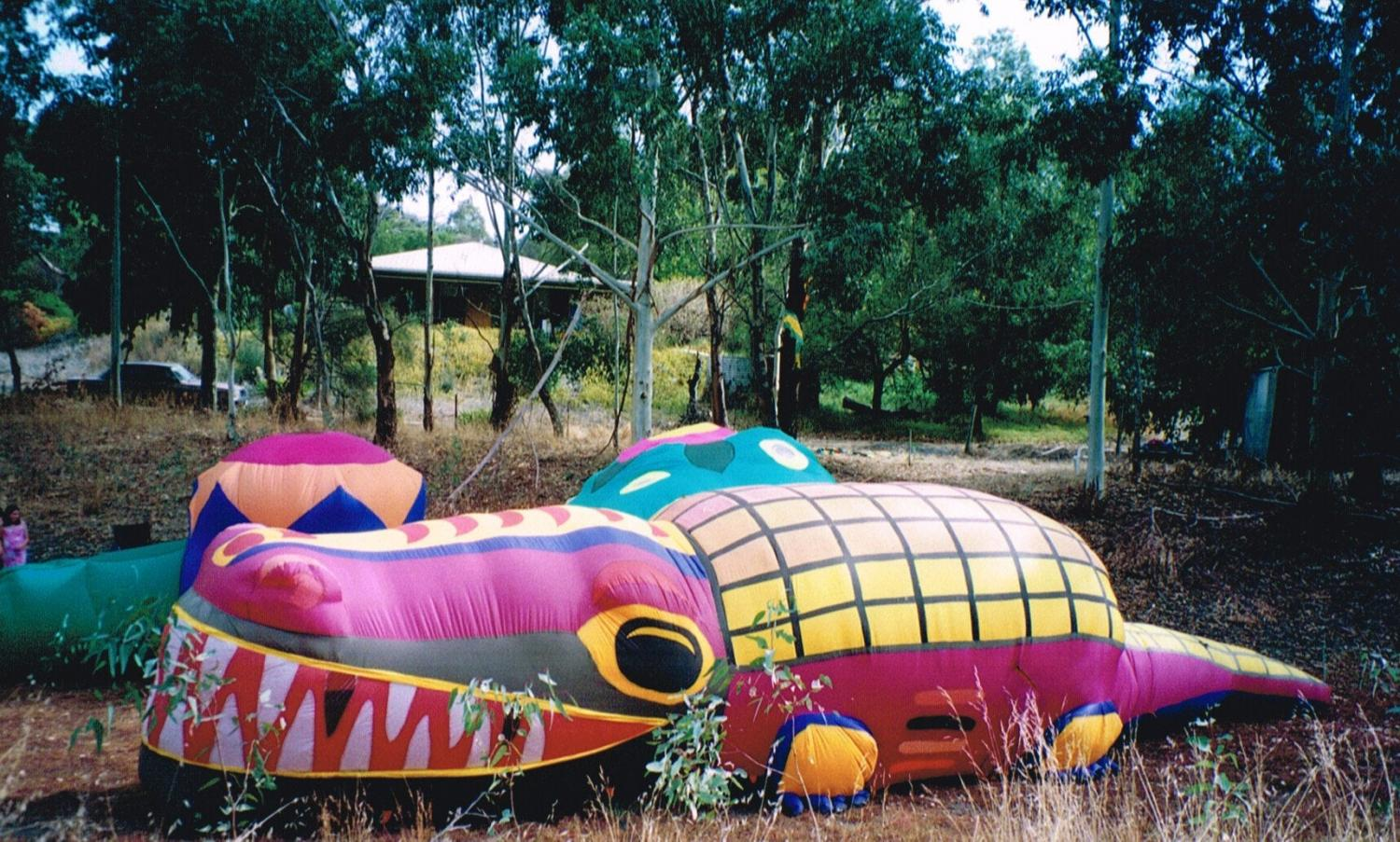 Giant inflatable crocodile - Evelyn Roth