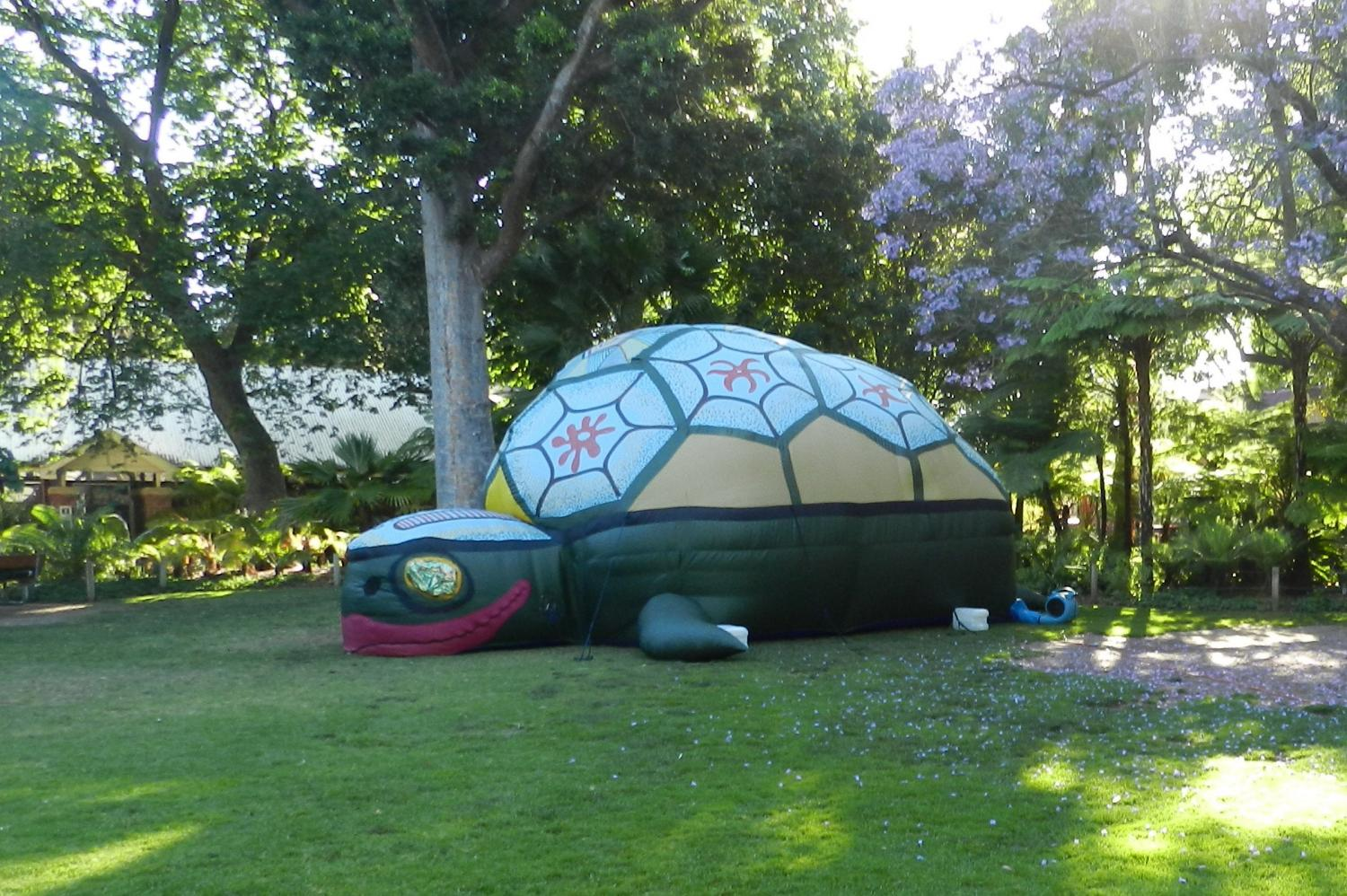 Giant inflatable turtle - Evelyn Roth
