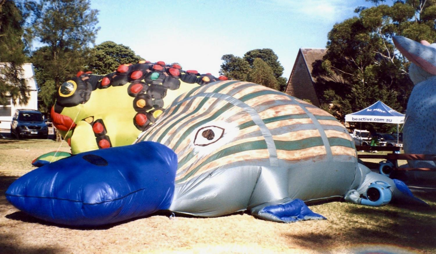 Giant inflatable platypus  - Evelyn Roth