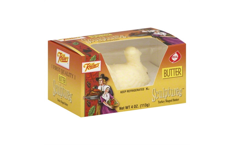 Turkey Shaped Butter Sculpture For Thanksgiving Table Decor
