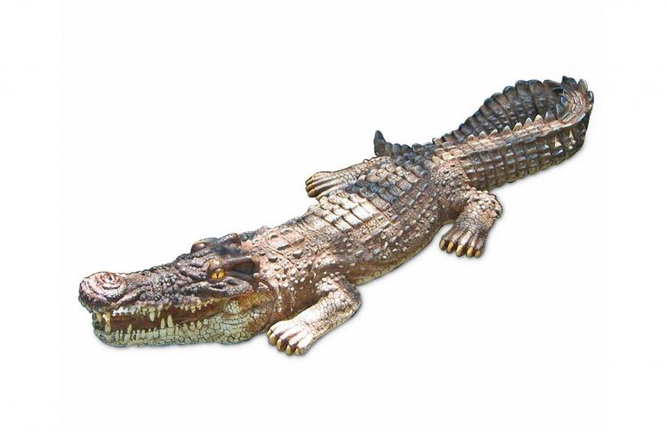 Incredibly Realistic Life-size Crocodile Pool Float - Alligator pool decoy - gator pond decoy