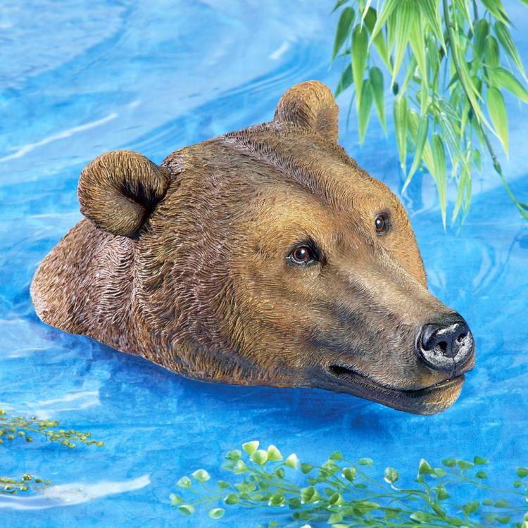 Incredibly Realistic Bear Head Pool Float - Bear Head pool decoy - Bear head pond decoy