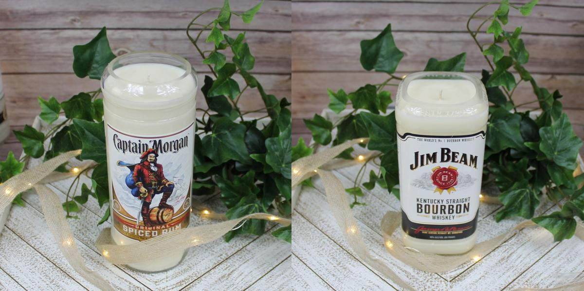Captain Morgan Candle - Jim Beam Candle - Candle that smells like booze