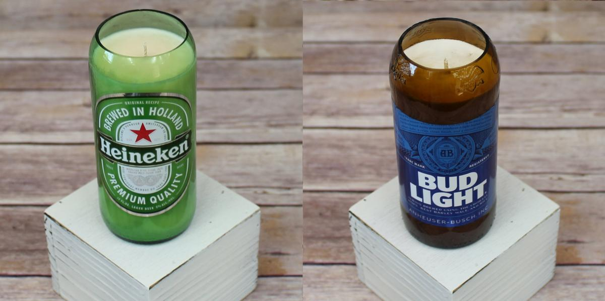Heineken Candle - Bud Light Candle - Candle that smells like beer