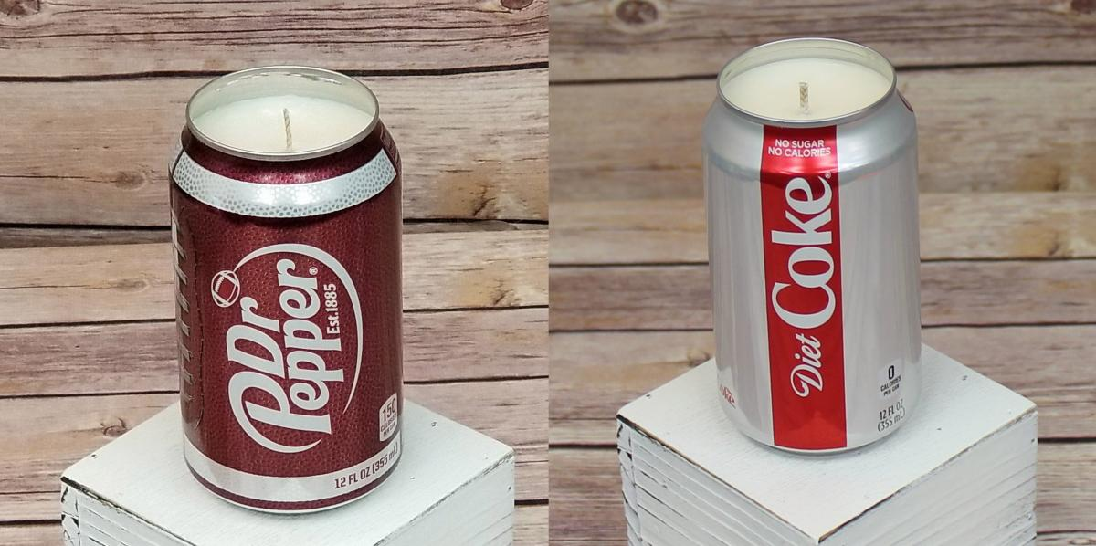 Dr Pepper Candle - Diet Coke Candle - Candle that smells like soda pop