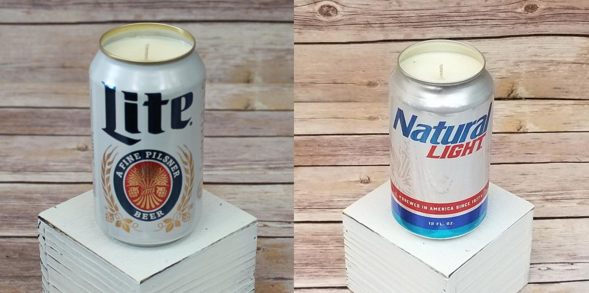 Miller Lite Candle - Natural Light Candle - Candle that smells like beer