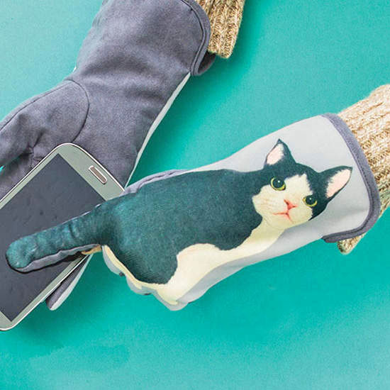Wagging Cat Tail Gloves
