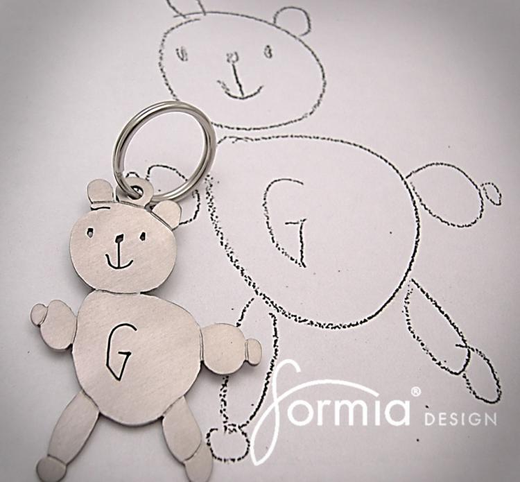 Your Child's Drawing As A Keychain