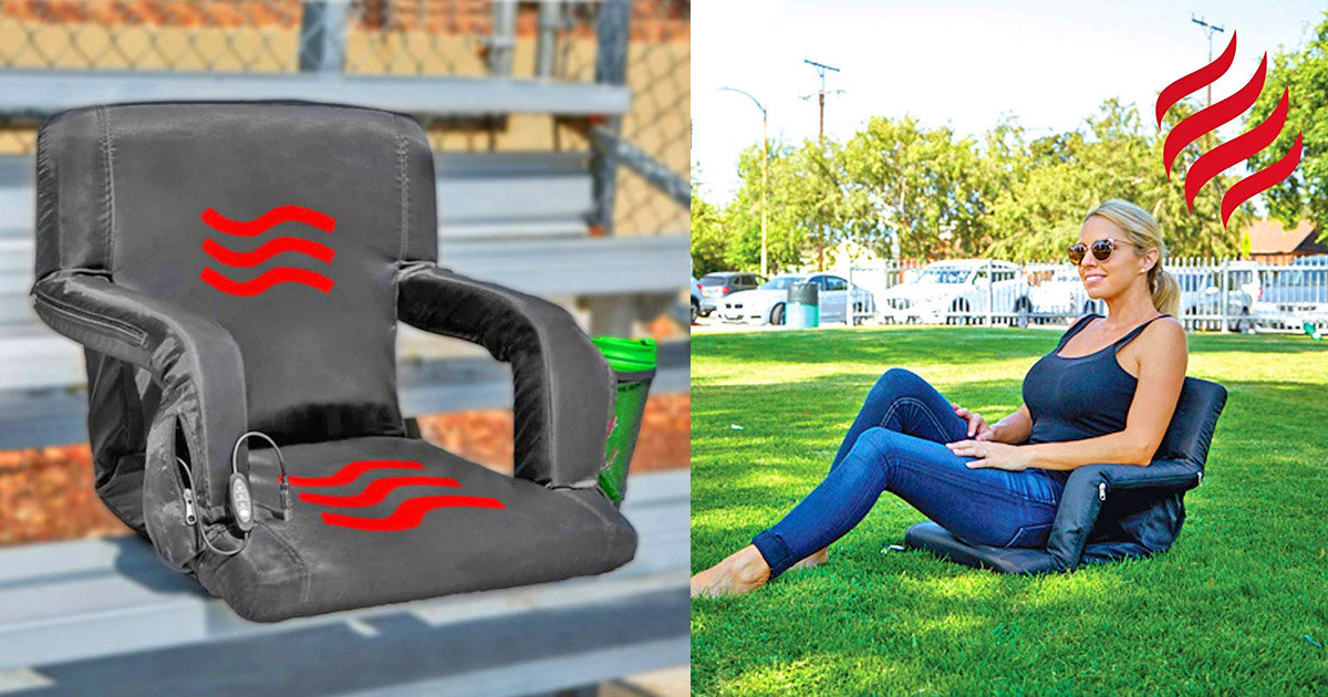 This Heated Bleacher Seat Lets You Watch Your Kids Sports Games With a Warm Behind