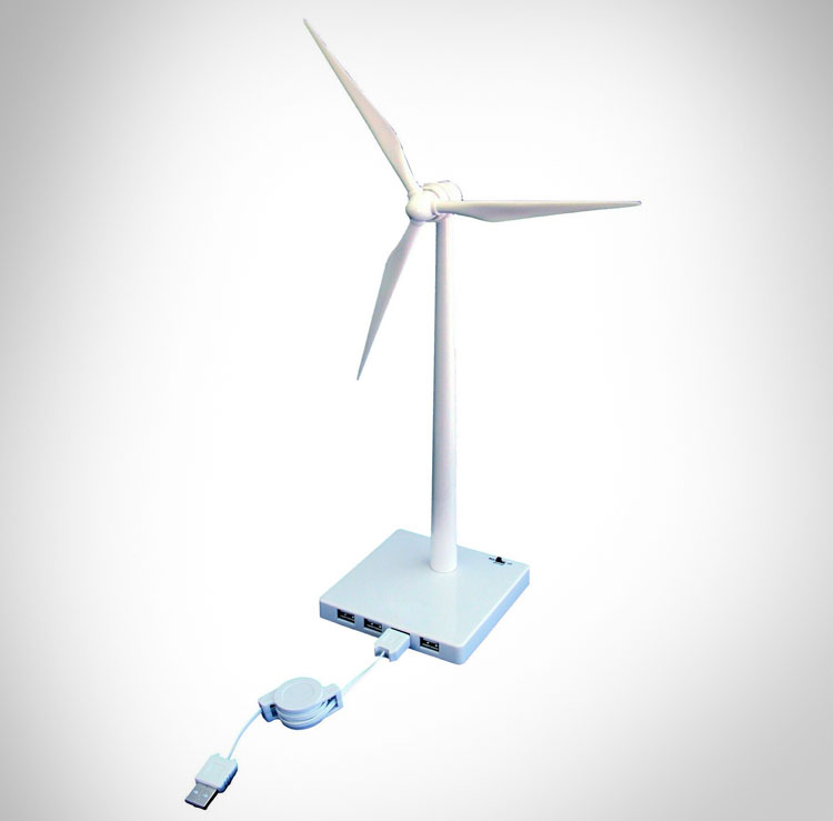 USB Powered Desktop Wind Turbine USB Hub
