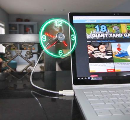 USB Powered LED Fan Clock