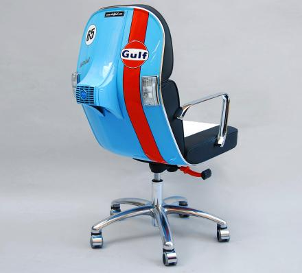 Scooter Chair: An Old Vespa Scooter Made Into a Modern Office Chair