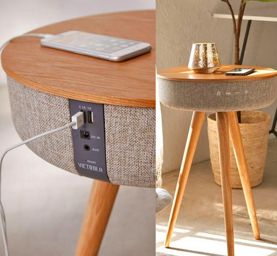 Victrola Smart Table With Bluetooth Speaker