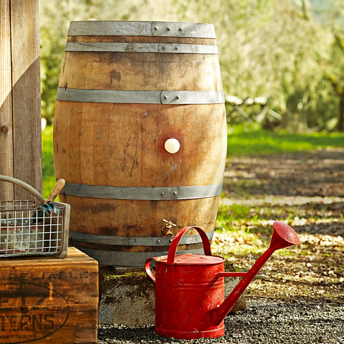 Vintage Wine Rain Barrel 1