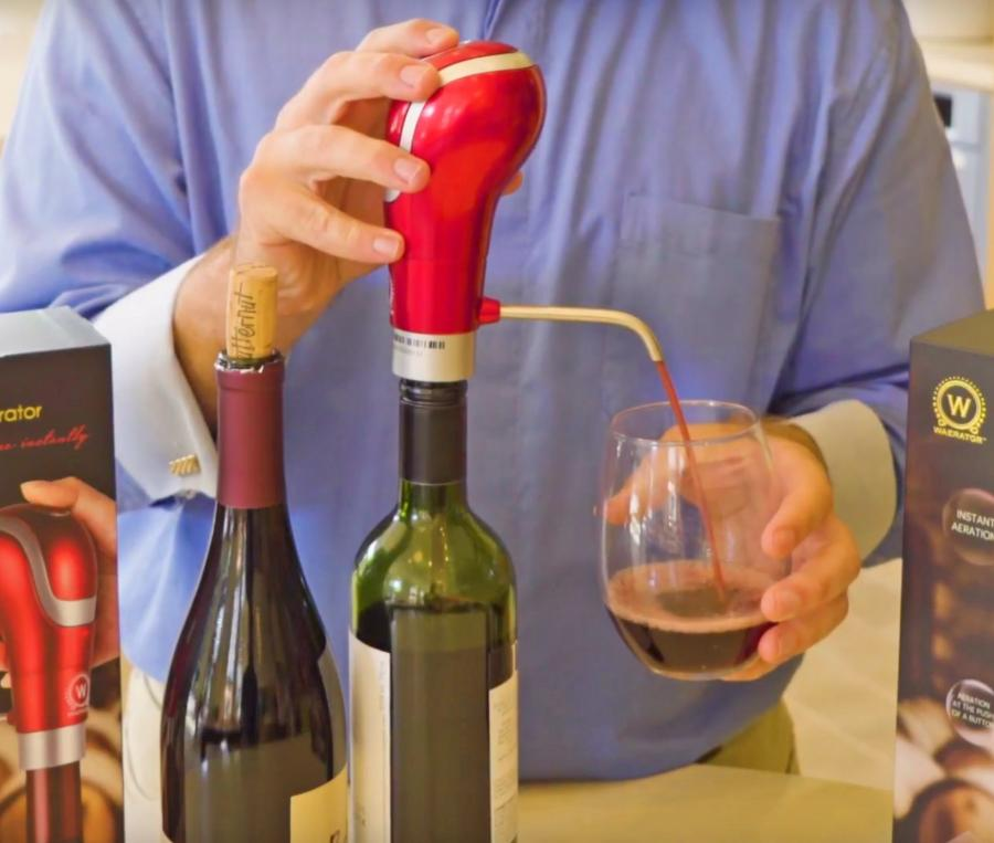 Waerator Wine Aerator Turns Your Bottle Of Wine Into A Tap