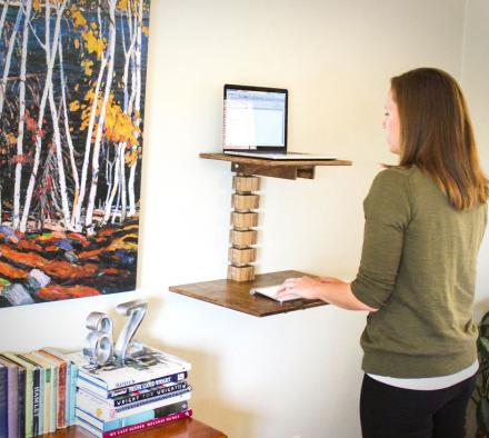 Wall Mounted Stand Up Desk