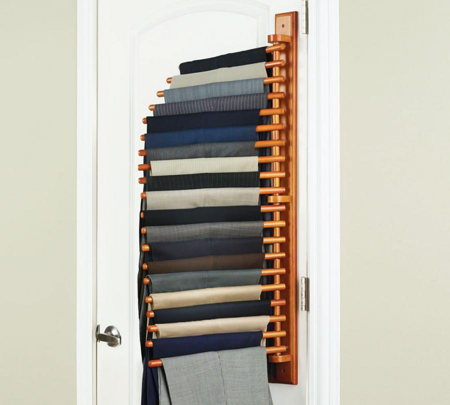 wall mounted trouser rack. Black Bedroom Furniture Sets. Home Design Ideas