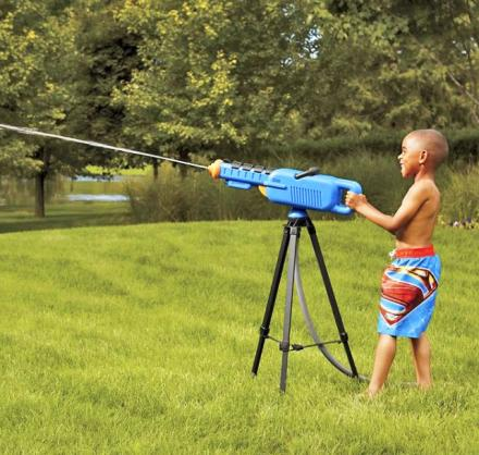 Water Cannon: A Giant Squirt Gun on a Tripod