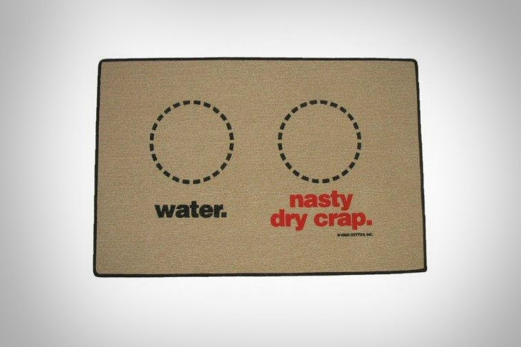 Water / Nasty Dry Crap Dog Food Mat