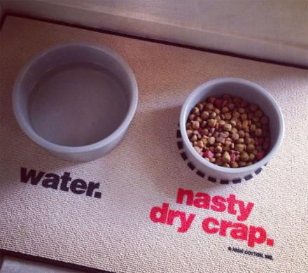 Water / Nasty Dry Crap Dog Mat