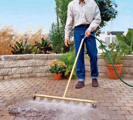 Water Broom: A Broom That Connects To Your Garden Hose