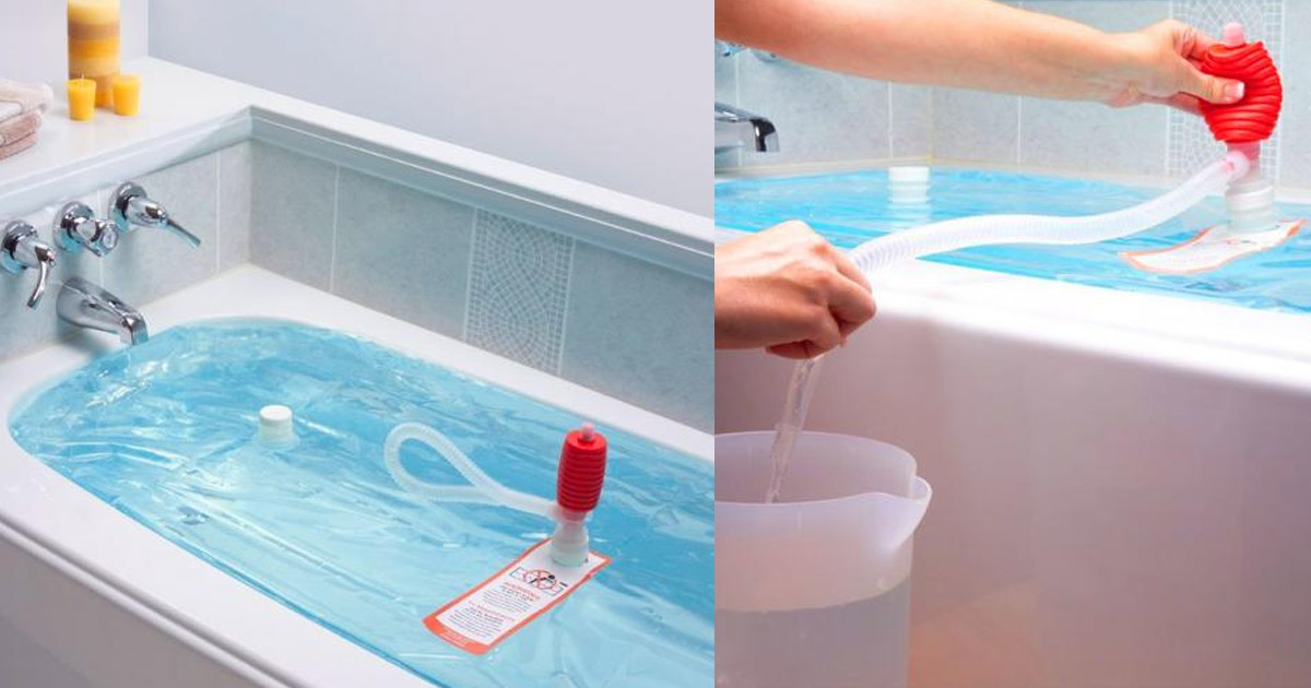 WaterBob Lets You Store 100 Gallons of Emergency Drinking Water In Your Bathtub